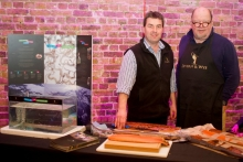 Richard and myself promoting our Tanks in Schools scheme photo