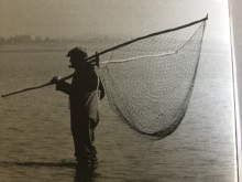Severn lave nets men waiting for a fish to show image