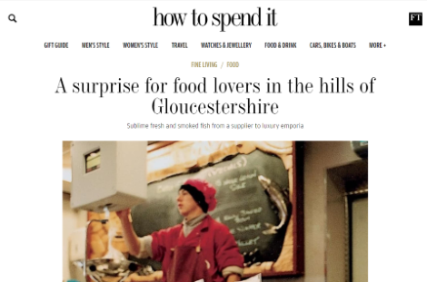 A surprise for food lovers in the hills of Gloucestershire